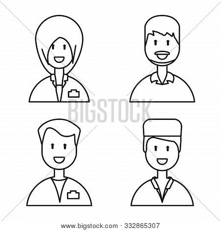Vector Design Of Medical And Clinic Sign. Collection Of Medical And Hospital Vector Icon For Stock.