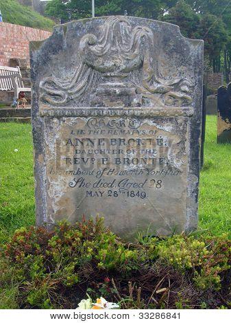 Anne Brontes Gravestone, Saint Marys Church cemetery, Scarborough, England.