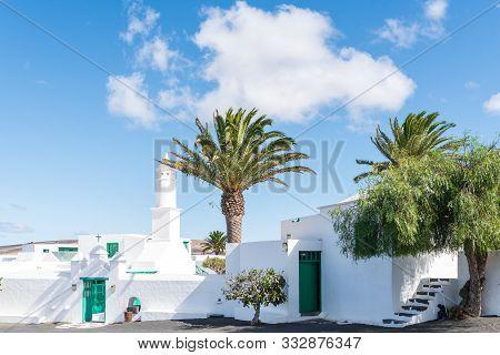 Lanzarote, Spain - October 22, 2019: Casa Museo Del Campesino In San Bartolome Against Beautiful Sky