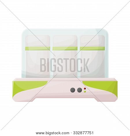 Vector Illustration Of Yogurt And Machine Symbol. Web Element Of Yogurt And Appliance Stock Vector I
