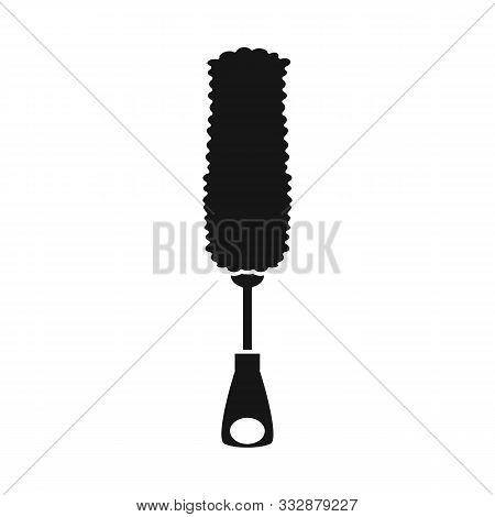 Isolated Object Of Brush And Tool Sign. Graphic Of Brush And Broom Stock Symbol For Web.