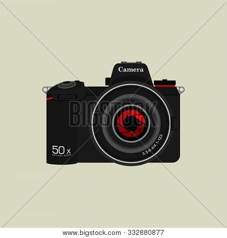 Slr Camera Photography For Template Vector Design