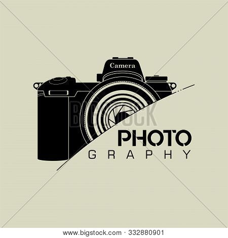 Slr Camera Photography Logo Icon Vector Design