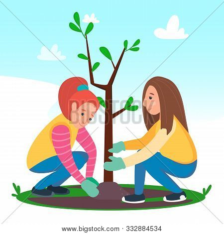 Girls Planting Young Vector Photo Free Trial Bigstock The latest cartoons online & series cartoons and highest quality for you. girls planting young vector photo