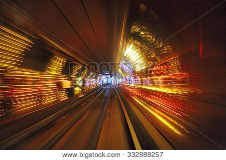 Light In The Bund Sightseeing Tunnel, Pudong, Shanghai, China