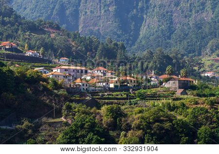 Sao Vicente; Madeira; Portugal - October 31; 2019: The Fragment View Of Sao Vicente Village From Mou