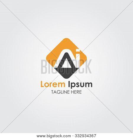Letter Ai Simple Logo Vector Template. Business Ai Letter Logo Design. Ai Font Type Logo. Letter Ai