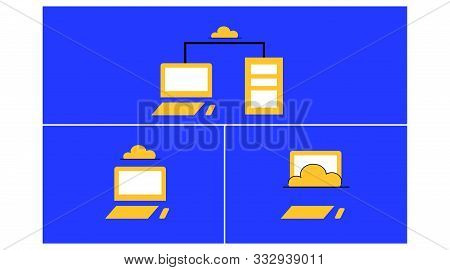 Business Computing. Computerized Storage Using An External Device. Learning Vector About Storage Usi