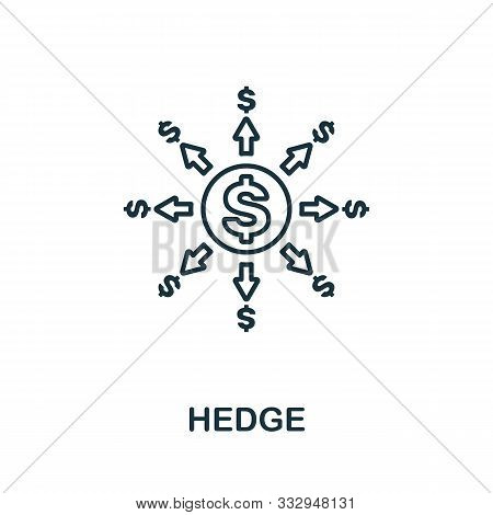 Hedge Icon Outline Style. Thin Line Creative Hedge Icon For Logo, Graphic Design And More
