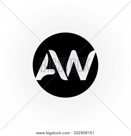 Aw Letter Logo Vector Design. Aw Circle Logo Design. Aw Circle Logo. Aw Logo. Rectangle. Aw Square.