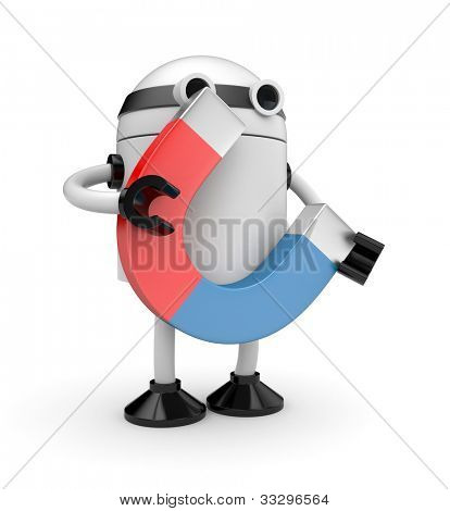 Robot with magnet