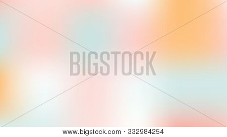 Unfocused Mesh Vector Background Hologram Neon Bright Teal. Dreamy Pink, Purple, Turquoise Glitch Fe