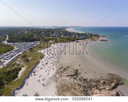 Wingaersheek Beach Aerial View In Gloucester, Cape Ann, Massachusetts, Ma, Usa.