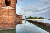 HDR of Fort Jefferson at the Dry Tortugas. poster
