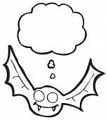 cartoon halloween bat poster