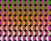 Op Art Big Circles By Half Green Purple And Orange poster