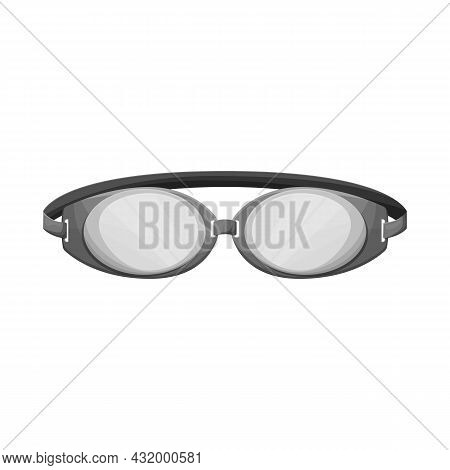 Isolated Object Of Glasses And Eyewear Logo. Graphic Of Glasses And Eyewear Stock Symbol For Web.