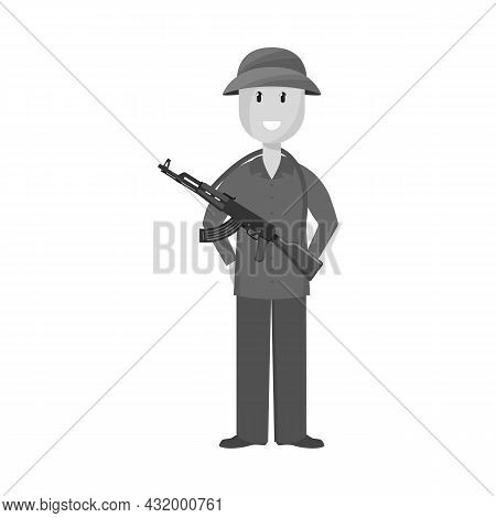 Isolated Object Of Vietnamese And Soldier Logo. Collection Of Vietnamese And Man Vector Icon For Sto
