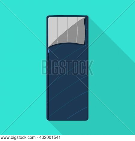 Vector Illustration Of Sack And Blanket Symbol. Web Element Of Sack And Sleeping Vector Icon For Sto