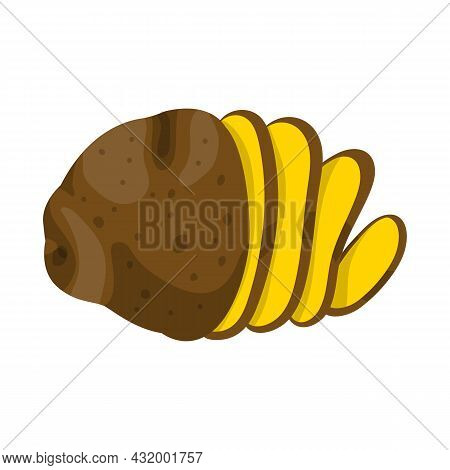 Isolated Object Of Potato And Chips Symbol. Web Element Of Potato And Slice Stock Vector Illustratio