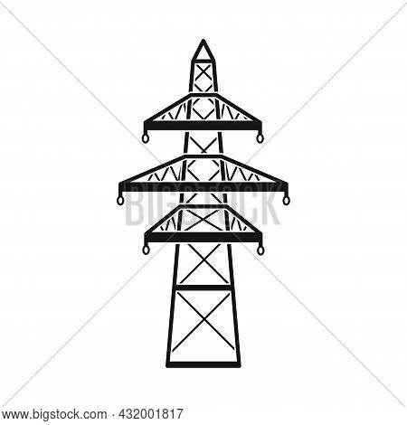 Isolated Object Of Pillar And Energetic Icon. Web Element Of Pillar And Station Stock Vector Illustr