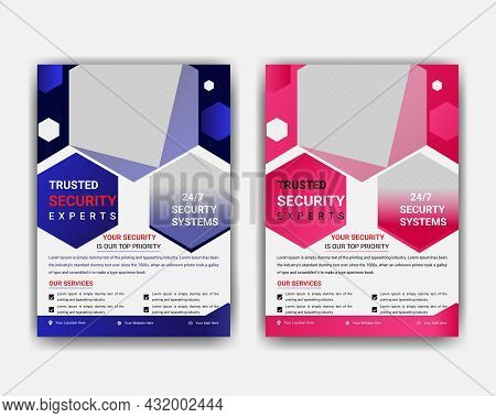 Flyer Security Services Template And Trusted Security Service Flyer Design. Security Agent Service P