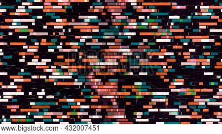 Looped Animation Of Moving Colorful Stripes. Animation. Multicolored Stripes Diverge From Center In