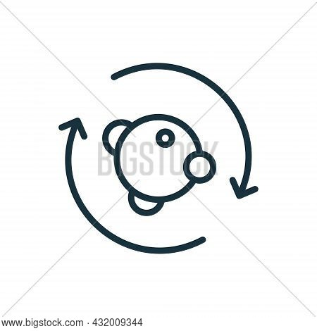 Process Of Metabolism, Symbiosis Line Icon. Element Of Bio Science Engineering Linear Pictogram. Cir