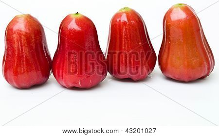 Rose Apples (syzygium Jambos ) Isolated On White Background