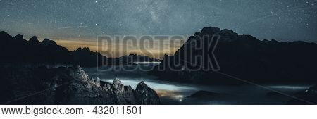 Starry Night over the mountain banner