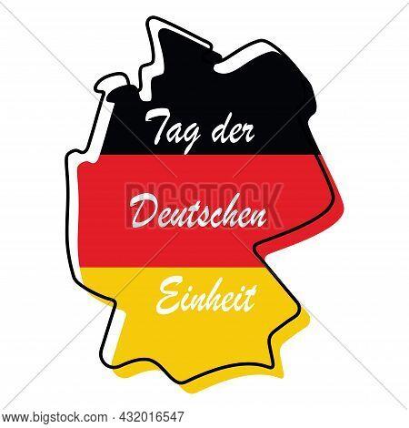 German Unity Day - Tag Der Deutschen Einheit, Vector Illustration National Germany Holiday Greeting
