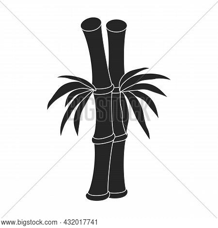 Bamboo Vector Icon.black Vector Icon Isolated On White Background Bamboo.