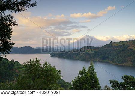 Panoramic Image Of Lake Mulehe, Uganda, Africa