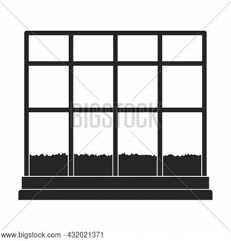 Greenhouse Vector Icon.black Vector Icon Isolated On White Background Greenhouse.