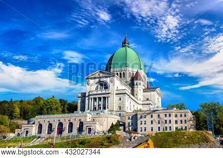Saint Joseph Oratory In Montreal In A Sunny Day, Quebec, Canada