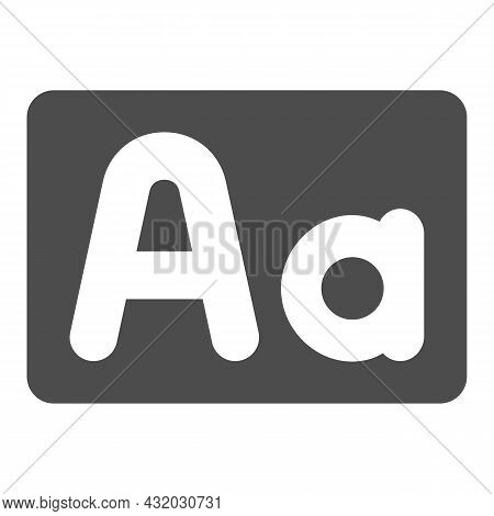 Capital And Small Letter A, Upper And Lower Case Solid Icon, Letters Concept, Alphabet Vector Sign O