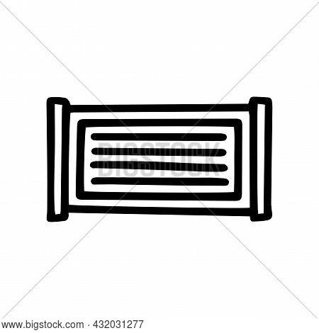 Cement Fence Black Line Vector Doodle Simple Icon