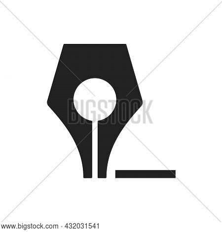 Fountain Pen Icon Business Write Symbol Drawing On White Background Vector Illustration