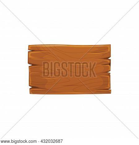 Retro Billboard, Blank Cartoon Plaques Isolated Realistic Signboard. Vector Wooden Sign Board, , Des