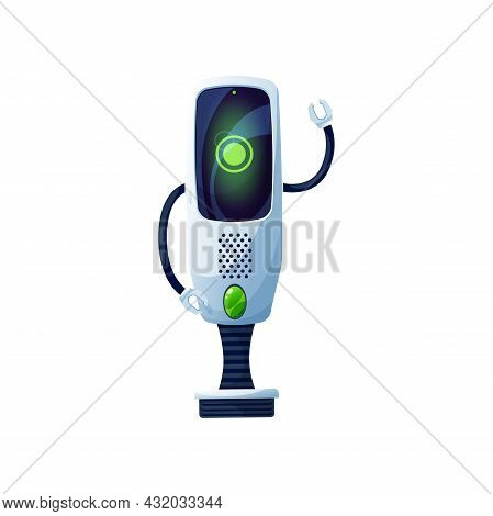 Cartoon Robot Vector Cyborg Toy Or Bot Character, Artificial Intelligence Technology. Robot With Cla