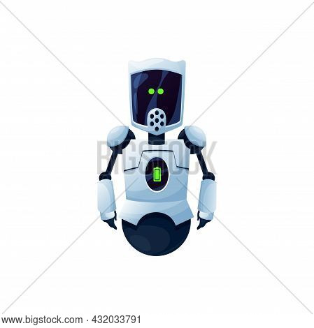 Android Robot Kids Toy Futuristic Character Isolated Icon.vector Artificial Droid, Tiny Robot, Sci F