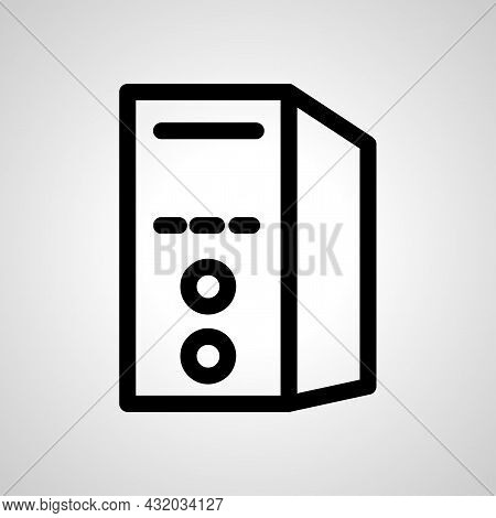 Personal Computer Vector Line Icon. Personal Computer Linear Outline Icon