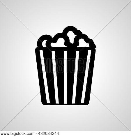 Popcorn Vector Simple Icon. Popcorn Isolated Vector Icon