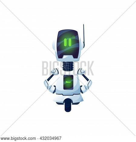 Cartoon Robot Vector Cyborg Character, Toy Or Bot. Artificial Intelligence Technology, Friendly Robo