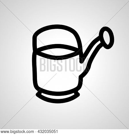 Watering Can Vector Line Icon. Watering Can Linear Outline Icon