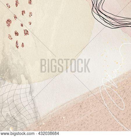 Ligh tone sand memphis inpired art banner