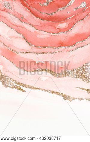 Shimmering pink watercolor brush stoke background