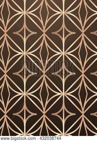 Golden round geometric patterned background design resource