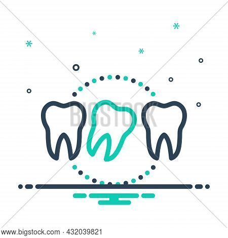 Mix Icon For Loose Lax Not-secure Relaxed Tooth Dental Dentistry Health Hygiene Medical Mouthoral To