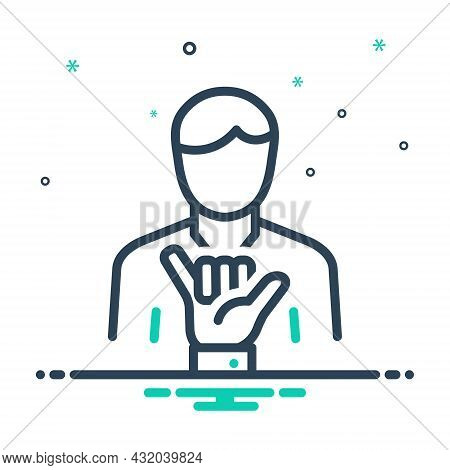Mix Icon For Loose Shaka Lax Not-secure Relaxed Gesture Hand People